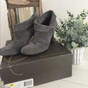 Enzo Angiolini Gray Suede Bootie